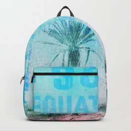 Travel The World Mixed Media Art Backpack