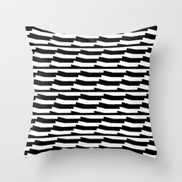 Mariniere marinière black and white wave version Throw Pillow