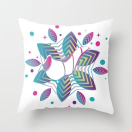 Colorful shofar with patterns Throw Pillow