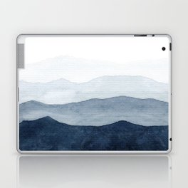 Indigo Abstract Watercolor Mountains Laptop & iPad Skin