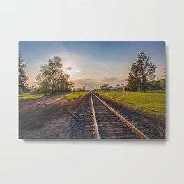 Railroad Tracks, Washburn, North Dakota 2 Metal Print