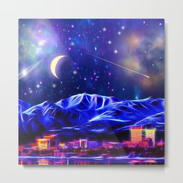 Starry Night Anchorage Metal Print