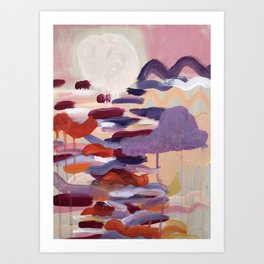 Never go too long without watching the sunset Art Print