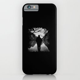 Walk Alone to The River iPhone Case