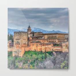 Fairytale castle on the cliff Metal Print