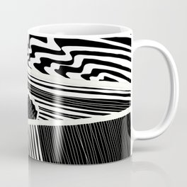 Landscape with Horse Chestnut Tree - White Lines Coffee Mug