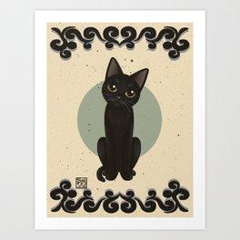 Adorable little kitty Art Print