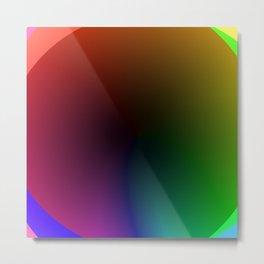 Abstract Color Wheel 3 Metal Print