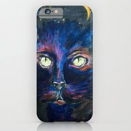 They Meet in the Night (Cats) iPhone Case