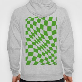 Warped Check - Kelly Green  Hoody