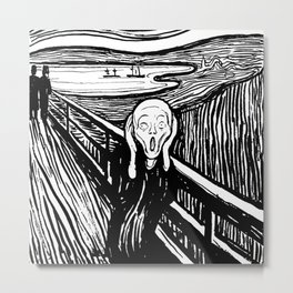 "Edvard Munch ""The Scream"", 1895 Metal Print"