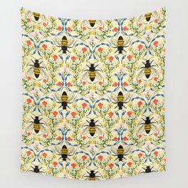 Bee Garden - Cream Wall Tapestry