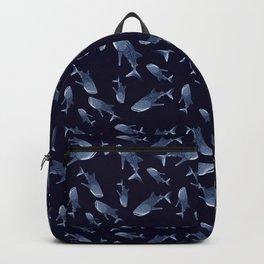 WHALE SHARK PATTERN (NAVY BLUE) Backpack