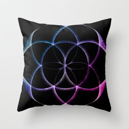 Seed of Life Pattern Throw Pillow