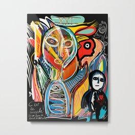 Graffiti Street Art Le Monde Tarot by Emmanuel Signorino   Metal Print