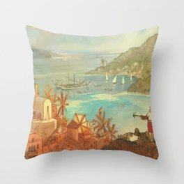 Provincial Polynesia Throw Pillow