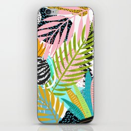 abstract palm leaves iPhone Skin
