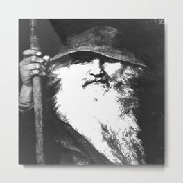 Scandinavian Mythology the Ancient God Odin Metal Print