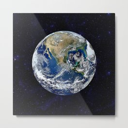 The Earth Metal Print