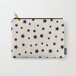 Star Pattern - Black & White Carry-All Pouch