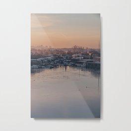 Sunset over Slusen Metal Print
