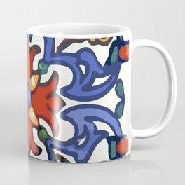 Talavera Mexican tile inspired bold design in blue, green, red, orange Coffee Mug