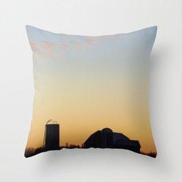Barn Silhouette Throw Pillow