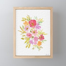 Floral Blossoms Framed Mini Art Print