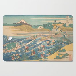 Fuji Seen from Kanaya on the Tōkaidō, Series Thirty-six Views of Mount Fuji by Katsushika Hokusai Cutting Board