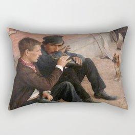 Émil Friant - The Drinkers, or Monday's Work - Les Buveurs ou le travail du lundi Rectangular Pillow
