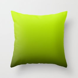 Slime Green and Black Deadly Ombre Nightshade Throw Pillow
