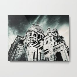Sacré Cœur - Dark Metal Print