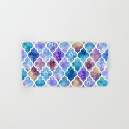 Colorful Watercolor Moroccan Pattern - II Hand & Bath Towel