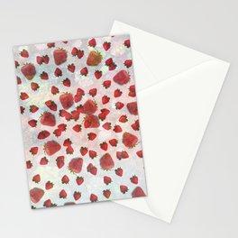 Strawberry Vortex Stationery Cards