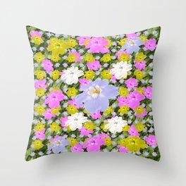 Multicolor Skyflowers Pattern Throw Pillow