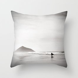 Morning Surf, near Tofino, BC, Canada Throw Pillow