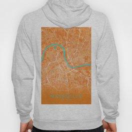 Nashville, TN, USA, Gold, Blue, City, Map Hoody