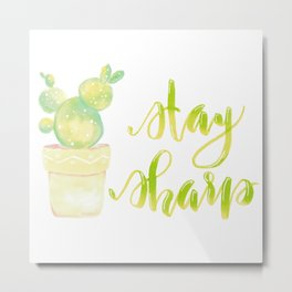 Advice From A Cactus Metal Print