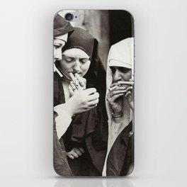Nuns Smoking iPhone Skin