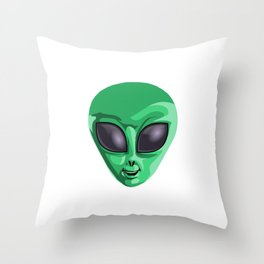 Send Nudes UFO Extraterrestrial Space Throw Pillow