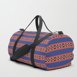 Decorative Blue Pattern Stripe Design Duffle Bag