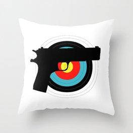 Pistol Target Throw Pillow