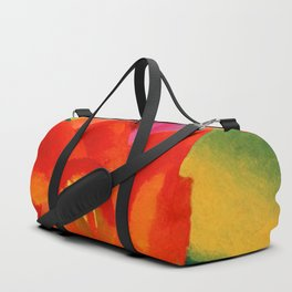 Red Canna Lilies Flower Still life Portrait Painting by Georgia O'Keeffe Duffle Bag