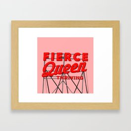 Fierce Queen Framed Art Print