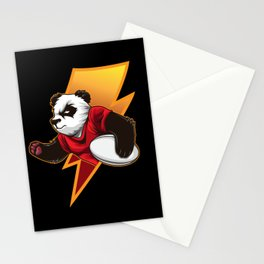 Determined Rugby Panda Wants To Win Stationery Cards