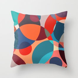 Crowded place Throw Pillow