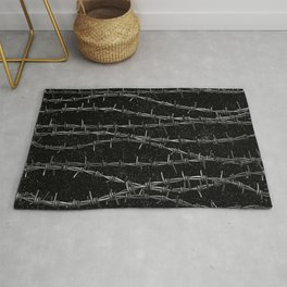 Bouquets of Barbed Wire Rug