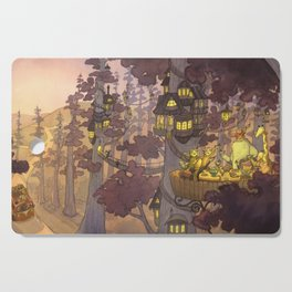 Treehouse Dinner With Animal Friends Cutting Board