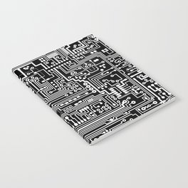 Circuit Board on Black Notebook