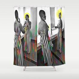 CareFreeBlackWoman Shower Curtain